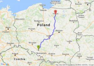 Trasa Dąbrówka Górna - Olsztyn