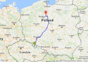 Trasa Bystrzyca Kłodzka - Chełmno