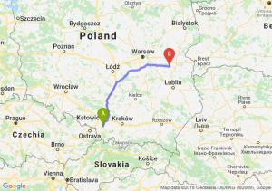 Trasa Pszczyna - Łuków