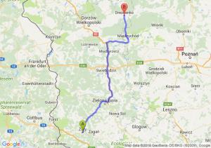 Trasa Żary - Drezdenko