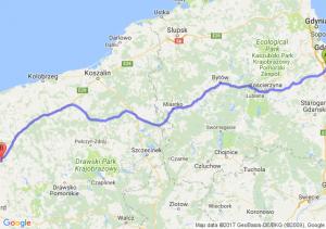 Trasa Pruszcz Gdański - Nowogard