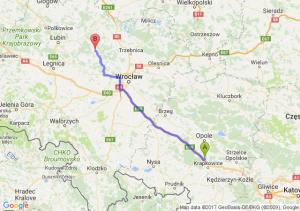 Trasa Dąbrówka Górna - Wołów