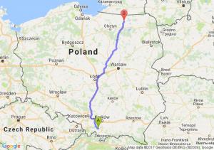Maków Podhalański (małopolskie) - Kętrzyn (warmińsko-mazurskie)