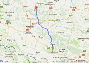 Trasa Dąbrówka Górna - Milicz