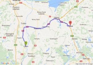 Trasa Gniew - Pasłęk