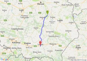Kozienice (mazowieckie) - Tarnów (małopolskie)