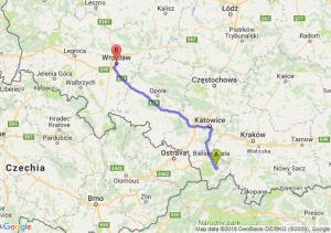 Trasa Pietrzykowice - Wrocław
