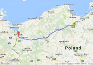 Trasa Gniew - Szczecin