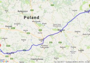 Czarna Białostocka (podlaskie) - Lubin (dolnośląskie)