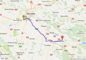 Trasa Biskupice Podgórne - Skorogoszcz