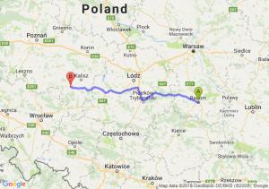 Trasa Radom - Ostrów Wielkopolski