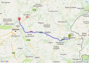 Trasa Biała Podlaska - Radzymin