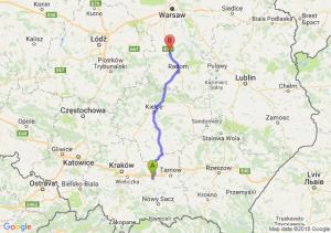 Trasa Brzesko - Białobrzegi