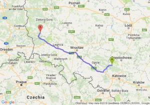 Trasa Lubliniec - Żagań