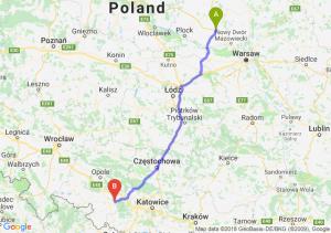 Trasa Płońsk - Kędzierzyn-Koźle