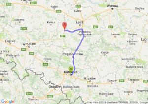 Trasa Katowice - Sieradz