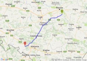 Trasa Góra Kalwaria - Kędzierzyn-Koźle