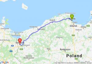 Trasa Gdynia - Szczecin