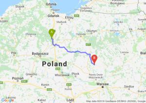Trasa Warlubie - Ciechanów