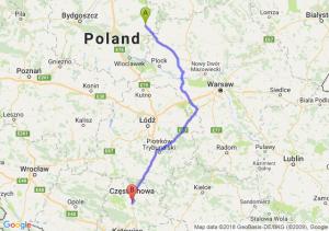 Trasa Rypin - Poczesna