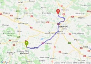 Trasa Świebodzice - Pęgów