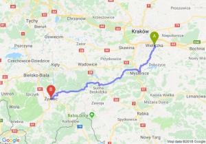 Trasa Wieliczka - Żywiec