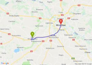 Trasa Kąty Wrocławskie - Wrocław