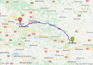Trasa Kraków - Chorzów