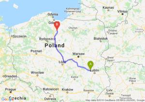 Trasa Kurów - Kwidzyn