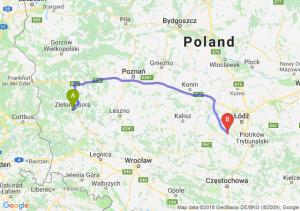 Trasa Zielona Góra - Łask