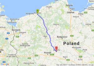 Koszalin (zachodniopomorskie) - Gniezno (wielkopolskie)