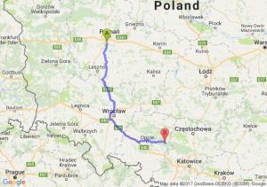 Puszczykowo (wielkopolskie) - Kolonowskie (opolskie)
