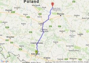 Trasa Sosnowiec - Płońsk