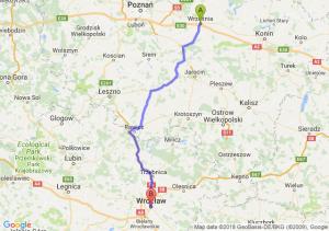 Trasa Września - Wrocław
