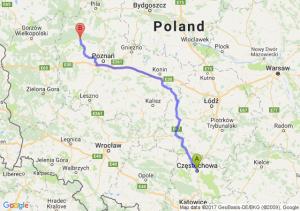 Trasa Częstochowa - Wronki
