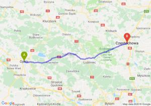 Trasa Opole - Częstochowa