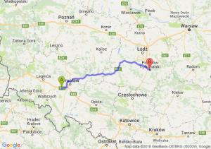 Trasa Kąty Wrocławskie - Piotrków Trybunalski