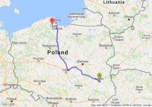 Trasa Lublin - Kartuzy