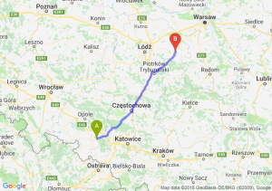Trasa Kędzierzyn-Koźle - Rawa Mazowiecka