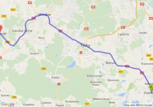 Oświęcim (małopolskie) - Orzesze (śląskie)
