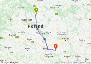 Trasa Grudziądz - Rawa Mazowiecka