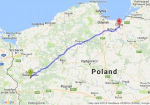 Trasa Gorzów Wielkopolski - Elbląg