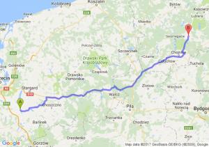 Pyrzyce (zachodniopomorskie) - Brusy (pomorskie)