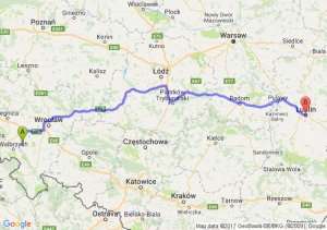 Świdnica (dolnośląskie) - Lublin (lubelskie)