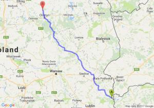 Włodawa (lubelskie) - Dobre Miasto (warmińsko-mazurskie)