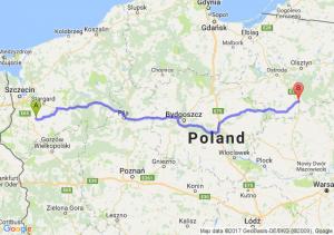Pyrzyce (zachodniopomorskie) - Nidzica (warmińsko-mazurskie)