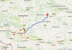 Dąbrowa Górnicza - Bocheniec (świętokrzyskie)