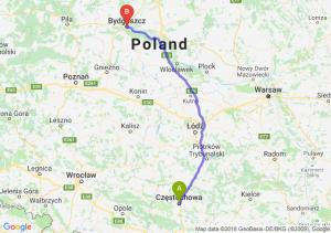 Trasa Częstochowa - Bydgoszcz