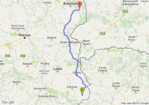Łaszczów (lubelskie) - Michałowo (podlaskie)