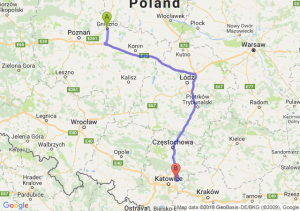 Trasa Gniezno - Dąbrowa Górnicza
